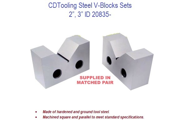 2 - 4 Inch Steel V-Blocks Sets ID 20835-